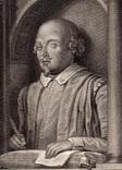 Старинная гравюра. Шекспир. Монумент Шекспиру. 1803 год. (42 на 32 см.). Оригинал. фото 2
