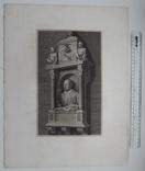 Старинная гравюра. Шекспир. Монумент Шекспиру. 1803 год. (42 на 32 см.). Оригинал. фото 4