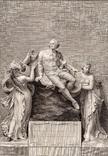 Старинная гравюра. Шекспир. Введение. 1803 год. (42 на 32 см.). Оригинал.