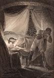 """Старинная гравюра. Шекспир. """"Отелло"""". 1803 год. (42 на 32 см.). Оригинал."""