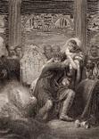"""Старинная гравюра. Шекспир. """"Макбет"""". 1803 год. (42 на 32 см.). Оригинал."""