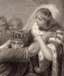 """Старинная гравюра. Шекспир. """"Макбет"""". 1803 год. (42 на 32 см.). Оригинал. фото 2"""
