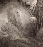 """Старинная гравюра. Шекспир. """"Макбет"""". 1803 год. (42 на 32 см.). Оригинал. фото 3"""