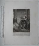 """Старинная гравюра. Шекспир. """"Макбет"""". 1803 год. (42 на 32 см.). Оригинал. фото 5"""
