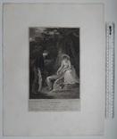 """Старинная гравюра. Шекспир. """"Как вам это понравится"""". 1803 год. (42 на 32 см.). Оригинал. фото 5"""