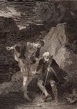 """Старинная гравюра. Шекспир. """"Как вам это понравится"""". 1803 год. (42 на 32 см.). Оригинал."""