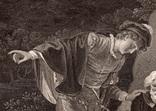 """Старинная гравюра. Шекспир. """"Как вам это понравится"""". 1803 год. (42 на 32 см.). Оригинал. фото 2"""