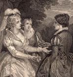 """Старинная гравюра. Шекспир. """"Бесплодные усилия любви"""". 1803 год. (42 на 32 см.). Оригинал. фото 2"""