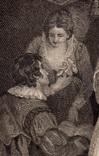 """Старинная гравюра. Шекспир. """"Бесплодные усилия любви"""". 1803 год. (42 на 32 см.). Оригинал. фото 3"""