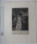 """Старинная гравюра. Шекспир. """"Бесплодные усилия любви"""". 1803 год. (42 на 32 см.). Оригинал. фото 5"""