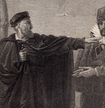 """Старинная гравюра. Шекспир. """"Венецианский купец"""". 1803 год. (42 на 32 см.). Оригинал. фото 2"""
