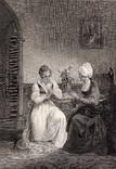 """Старинная гравюра. Шекспир. """"Всё хорошо, что хорошо кончается"""". 1803 год. (42 на 32 см.)."""