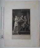 """Старинная гравюра. Шекспир. """"Всё хорошо, что хорошо кончается"""". 1803 год. (42 на 32 см.). фото 5"""