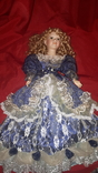 Кукла фарфор (на подставке), фото №4