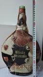 Большая бутылка декор, кожа, фото №2