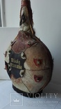Большая бутылка декор, кожа, фото №5