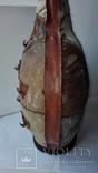 Большая бутылка декор, кожа, фото №6