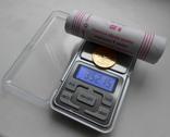 Весы ювелирные 500 г / 0,01 г карманные с батарейками №1, фото №2