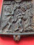 Икона - Энколпион XV век Рождество Христово, Крещение Господне, фото №9
