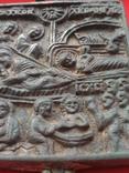Икона - Энколпион XV век Рождество Христово, Крещение Господне, фото №10