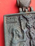 Икона - Энколпион XV век Рождество Христово, Крещение Господне, фото №13