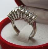 Серебряное Кольцо Гребень Корона Камни Маркизы 925 проба Размер 16.75 Серебро 233