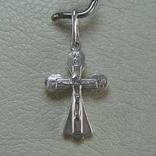 Серебряный Кулон Подвеска Крест Крестик Распятие Спаси и сохрани 925 проба Серебро 373, фото №2