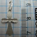 Серебряный Кулон Подвеска Крест Крестик Распятие Спаси и сохрани 925 проба Серебро 373, фото №5