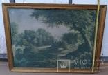 Вид в Павловском парке Репродукция на ткани, фото №12