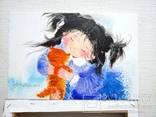 Картина «Рыжий котёнок». Художник Ellen ORRO. Холст на картоне/акрил. 20х30, 2018 г., фото №4