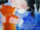 Картина «Рыжий котёнок». Художник Ellen ORRO. Холст на картоне/акрил. 20х30, 2018 г., фото №5