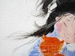 Картина «Рыжий котёнок». Художник Ellen ORRO. Холст на картоне/акрил. 20х30, 2018 г., фото №11