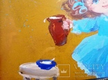 Картина «Завтрак котёнку». Художник Ellen ORRO. двп/акрил. 30х21,2011 г., фото №7