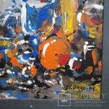 Картина «Натюрморт «Блики». Художник Ellen ORRO. дерево/акрил, 19.5х29.5, 1994 г., фото №4