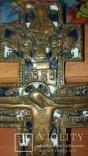 Крест 34 см две эмали, фото №4