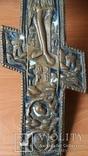 Крест 34 см две эмали, фото №5