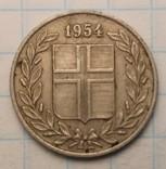 Исландия 25 эйре, 1954 год, фото №3