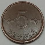 Фінляндія 5 пенні, 1965