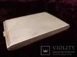 Портсигар, серебро 835 проба до 1915 года, фото №2