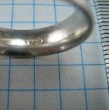 Серебряное Кольцо с Алмазной Гранью Бесконечность 925 проба Размер 18.25 Серебро 803 фото 5