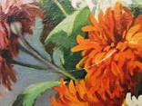 Картіна Маслом E. KRUGER Пейзаж столу з фруктами фото 5