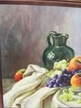Картіна Маслом E. KRUGER Пейзаж столу з фруктами фото 8