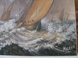 Картина Маслом MULERO _ Флот під час Шторму фото 9