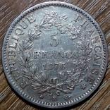 Франция 5 франков 1876 г., фото №2