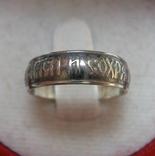 Серебряное Кольцо Спаси и сохрани Молитва 925 проба Размер 16 Серебро 657