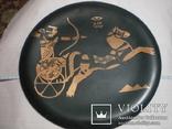 Египетская медная декоративная тарелка, фото №2
