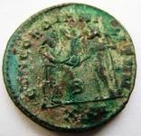 Биллоновый антониниан Constantius I Chlorus 302-303 г. н.э. - мондвор Антиохия., фото №3