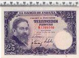 25 песет 1954 год. Испания., фото №2