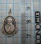 Новый Серебряный Кулон Икона Святая Юлия Корсиканская 925 проба Серебро 727 фото 2