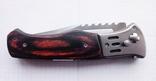 Нож выкидной с фонариком и чехлом, фото №4